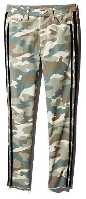 Mother Looker High-Rise Camo Track Stripe Skinny Jeans in See Me Run Black - 100% Exclusive