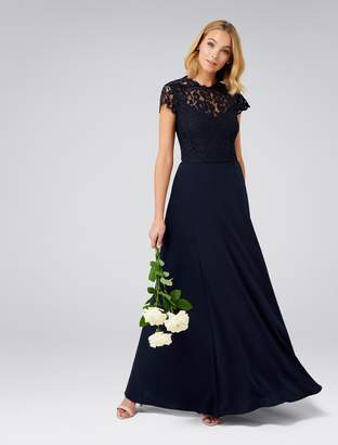 Ever New Macie Cap Sleeve Lace Bodice Gown