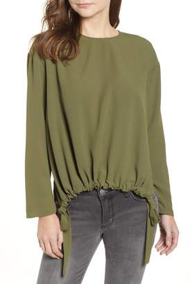 Trouve Trouv? Draped Back Tie Blouse