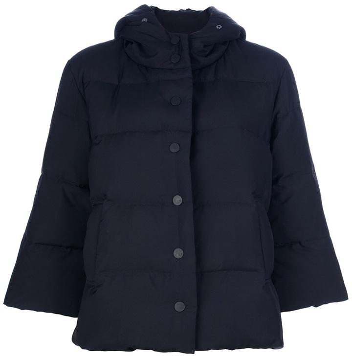 Issey Miyake padded hooded jacket