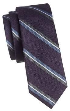 The Tie Bar Striped Silk Wool Slim Tie