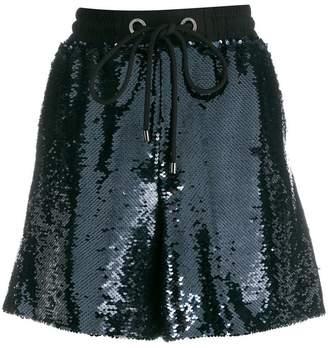 Emporio Armani drawstring sequin shorts