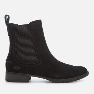 UGG Women's Hillhurst Suede Chelsea Boots - Black