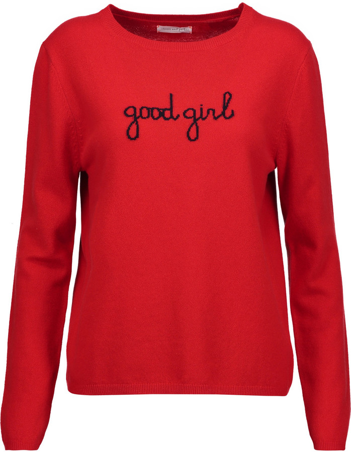 Chinti And ParkerChinti and Parker Good Girl intarsia cashmere sweater