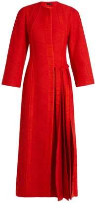 CARL KAPP Flame pleated-side coat