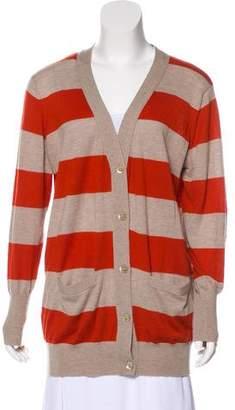 Autumn Cashmere Stripe Knit Cardigan