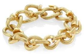 David Webb Toolchest 18K Yellow Gold Nail Link Bracelet