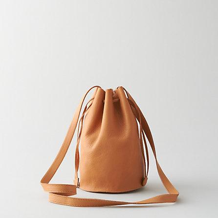 Baggu drawstring purse leather