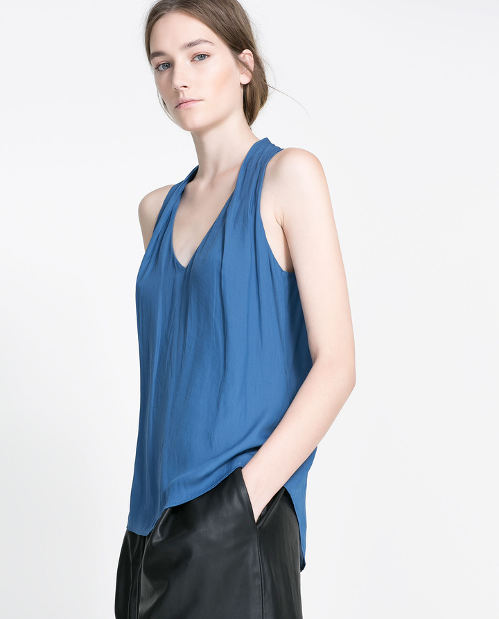Zara V-Neck Top