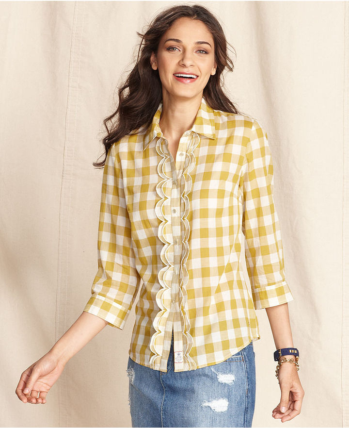 Tommy Hilfiger Shirt, Long-Sleeve Checkered-Print