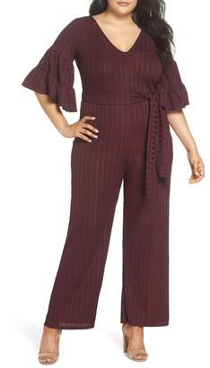 LOST INK Ruffle Sleeve Jumpsuit