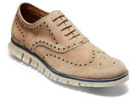 Cole Haan ZeroGrand Wing-Tip Suede Oxfords