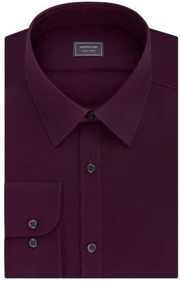 Arrow Men's Stretch Slim-Fit Solid Point-Collar Dress Shirt