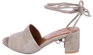 By Far Suede Wrap-Around Sandals
