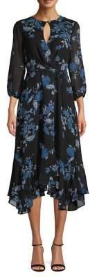 Gabby Skye Floral Chiffon Dress