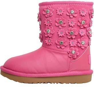 UGG Infant Girls Classic Short II Petal Boots Pink Azalea