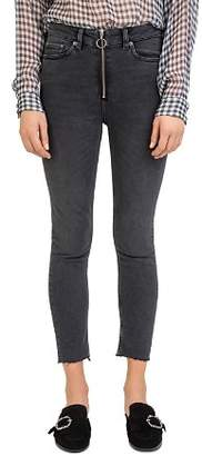 The Kooples Black Nory Cropped Skinny Jeans