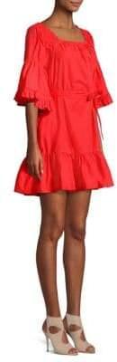 Joie Colstona Tie Waist Poplin Dress