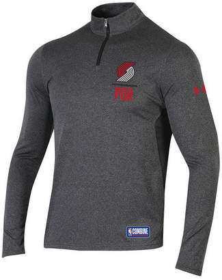 Under Armour Men's Portland Trail Blazers Combine Authentic Season Quarter-Zip Pullover