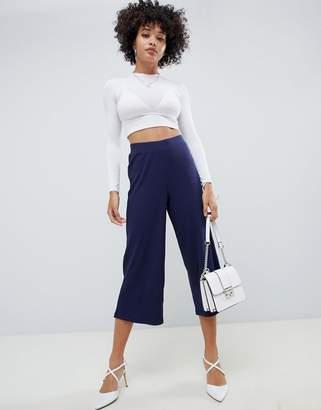 Asos DESIGN cropped culotte pants in rib