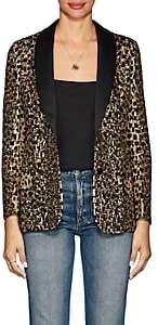 Valentino Women's Wild Leopard Embellished Blazer