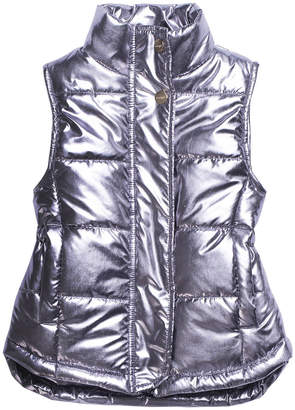 Imoga Metallic Quilted Puffer Vest, Size 8-14