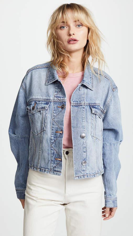 Collin Cropped Denim Jacket