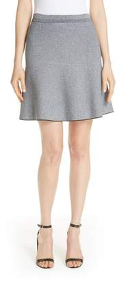 Theory Marled Knit Flare Skirt