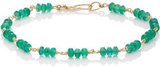Dean Harris Men's Emerald Beaded Bracelet
