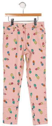 Stella McCartney Girls' Printed Five Pocket Jeans