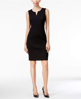 Calvin Klein Split-Neck Sheath Dress
