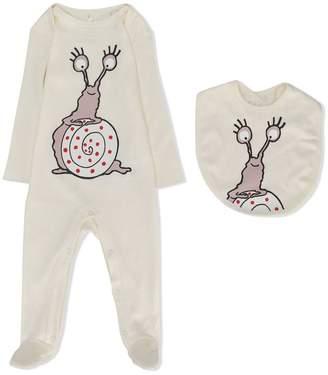 Stella McCartney Snail print babygrow set
