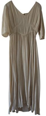 Laurence Dolige Ecru Silk Dress for Women