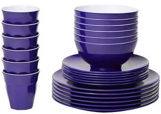 Violet Classic Melamine Dinner Set Number of Pieces: 24
