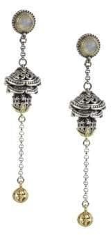 Konstantino Erato Labradorite, 18K Yellow Gold and Sterling Silver Dangle Earrings