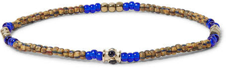 Luis Morais Glass Bead, Gold-Tone and Stone Bracelet