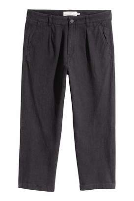 H&M Wide-cut Linen-blend Pants