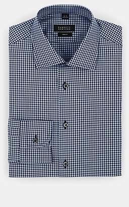 Barneys New York Men's Checked Cotton Dress Shirt - Navy