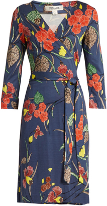 DIANE VON FURSTENBERG V-neck silk-jersey wrap dress $358 thestylecure.com