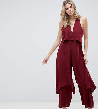 3f4b4c1d6f Asos Tall DESIGN Tall jumpsuit with multi layers