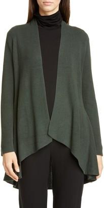 Eileen Fisher Angled Silk & Cashmere Cardigan