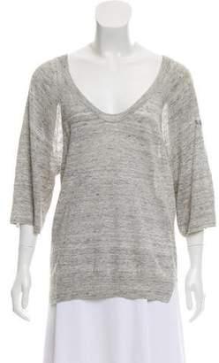 Zadig & Voltaire Linen V-Neck Sweater