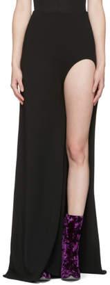 Haider Ackermann Black Open Leg Skirt