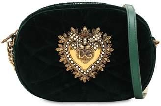 Dolce & Gabbana (ドルチェ & ガッバーナ) - DOLCE & GABBANA DEVOTION キルトベルベット カメラバッグ