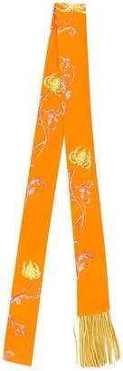 Haider Ackermann floral print skinny scarf
