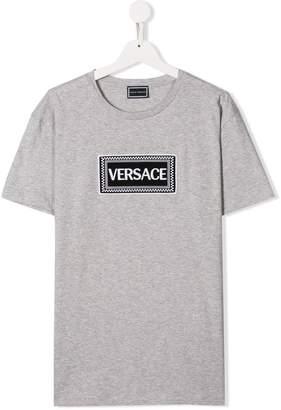 Versace TEEN logo patch T-shirt