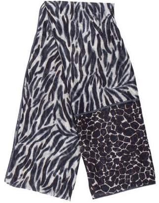 Loro Piana Cashmere & Silk Animal Print Scarf