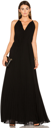 Elizabeth and James Cadence Tie Neck Pleated Gown $625 thestylecure.com