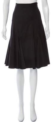 Calvin Klein Collection Wool Pleated Skirt