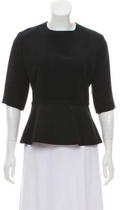 Celine Short Sleeve Peplum Top